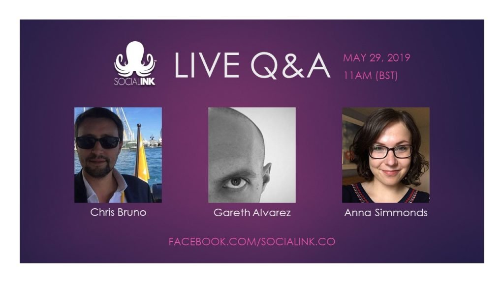 Live Q&A Event with Social INK's CEO, Head of Content, and Head of Social on May 29 on Facebook