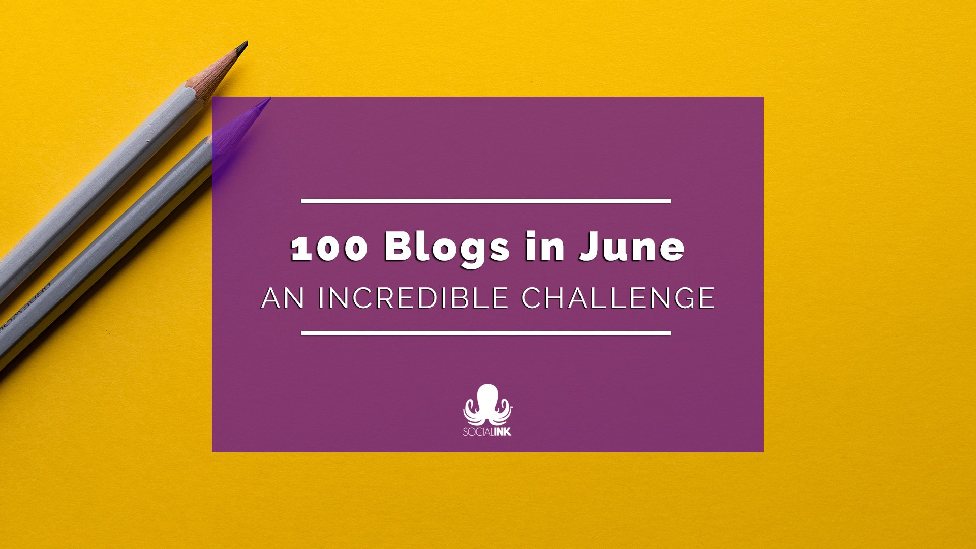 An Incredible Monthly Challenge: 100 Blogs In June
