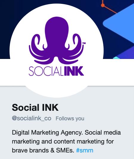 Social INK Twitter Bio