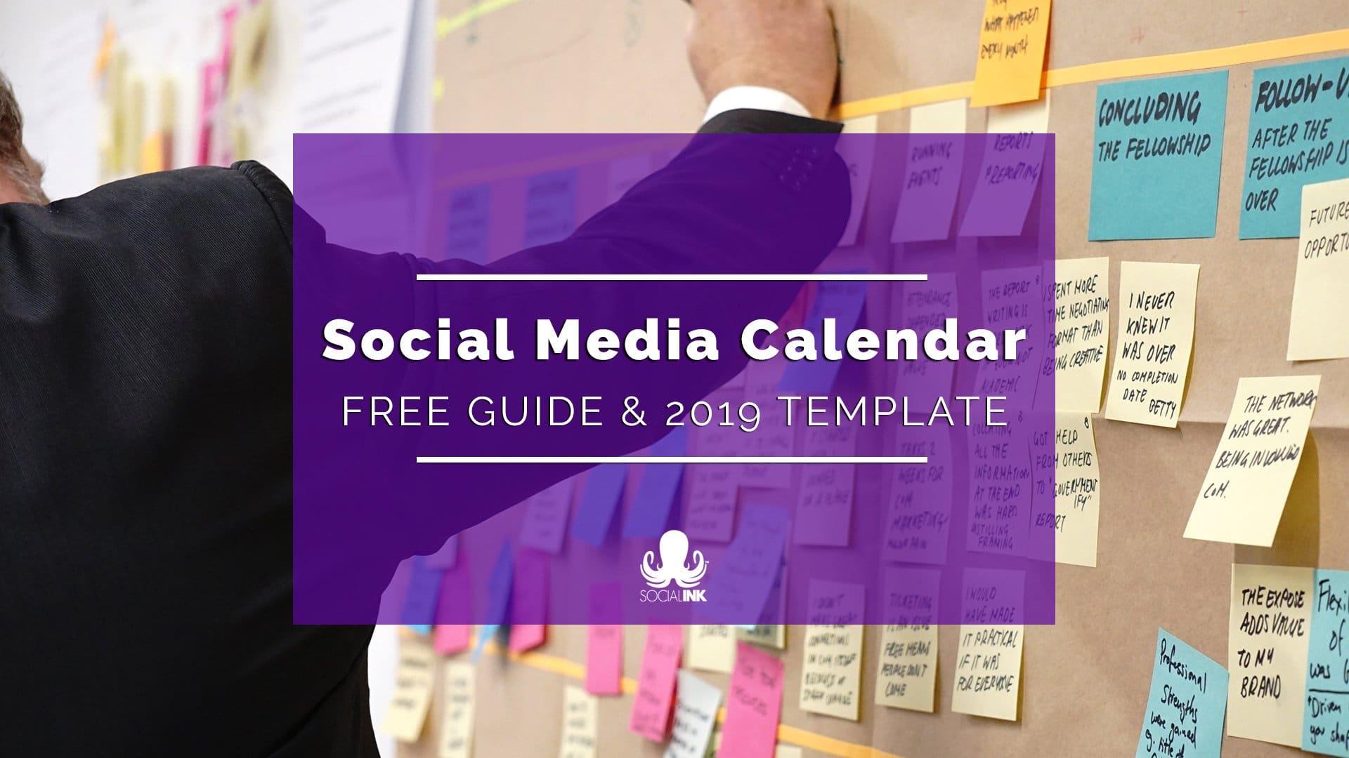 Social Media Calendar: 12-Month Template