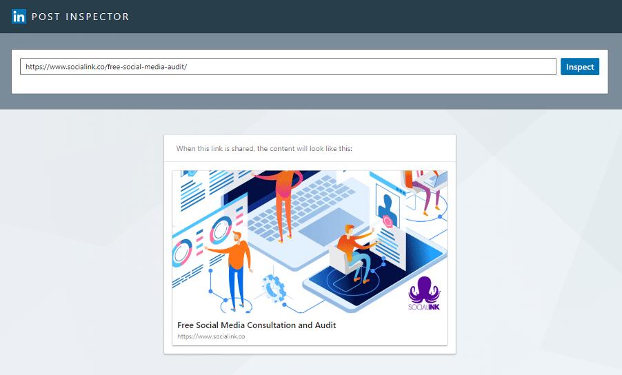how to fix link previews - LinkedIn URL Debugger 2