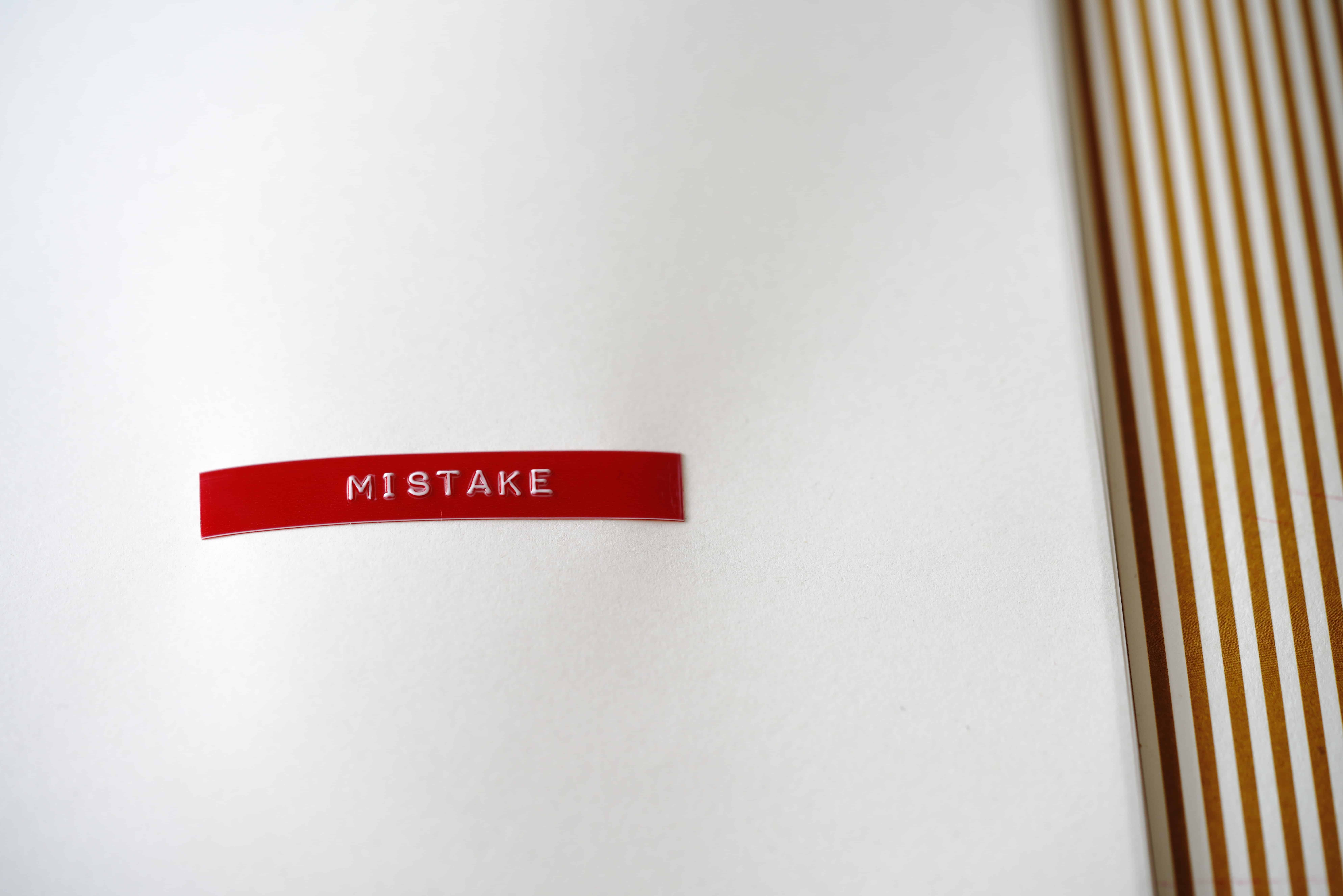 A Mistake to Remember