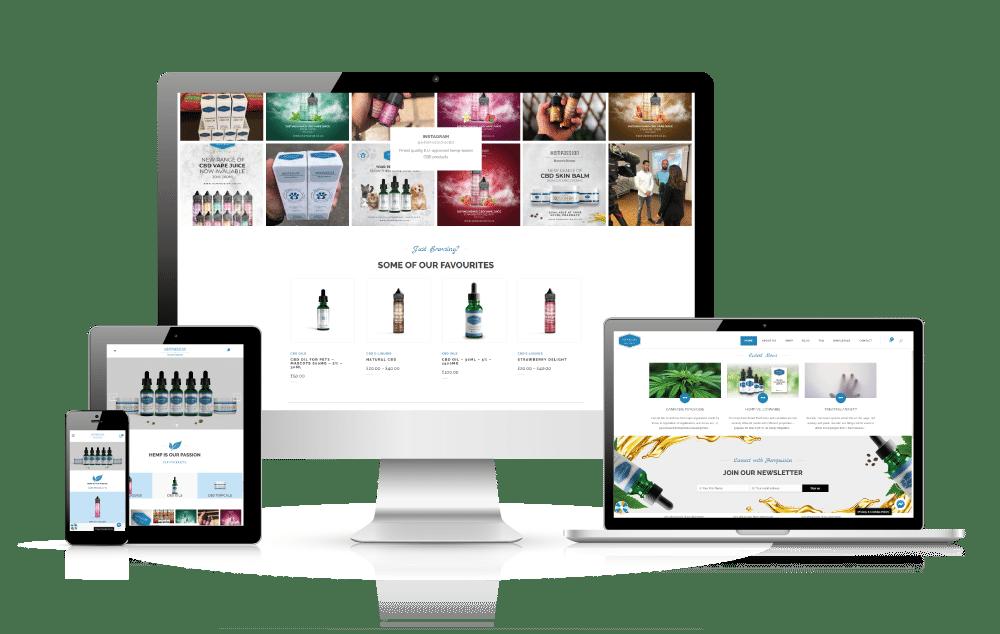 Professional web design - client example Hempassion