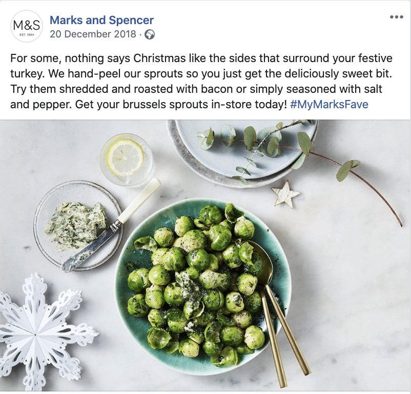 M&S - Nothing says Christmas like